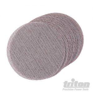 Triton 150 mm klittenband gaas schuurschijven, 10 pk.