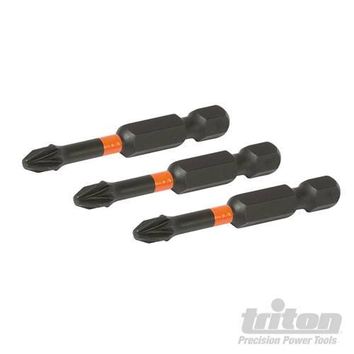Triton Kruiskop impact schroefbit, 3 pk.