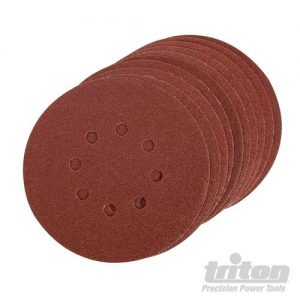 Triton 150 mm klittenband schuurschijven, 10 pk.
