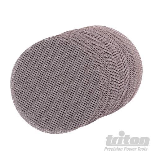 Triton 125 mm klittenband gaas schuurschijven, 10 pk.
